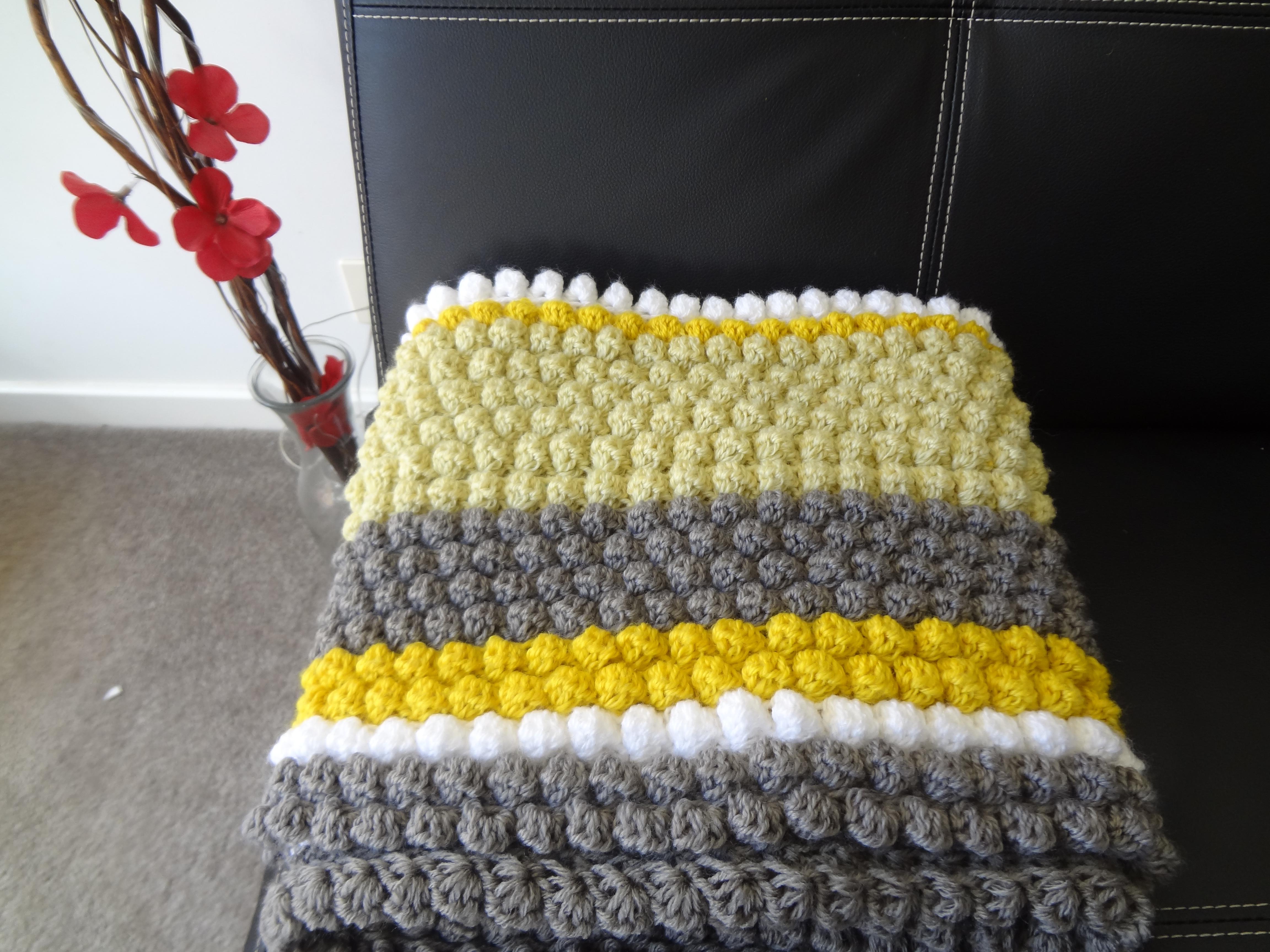 Puff bobble stitch blanket rug dsc01827 bankloansurffo Choice Image